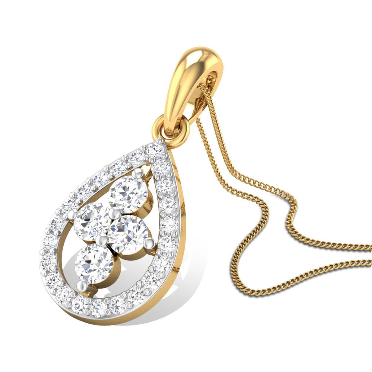 Sweet Pear Diamond Pendant