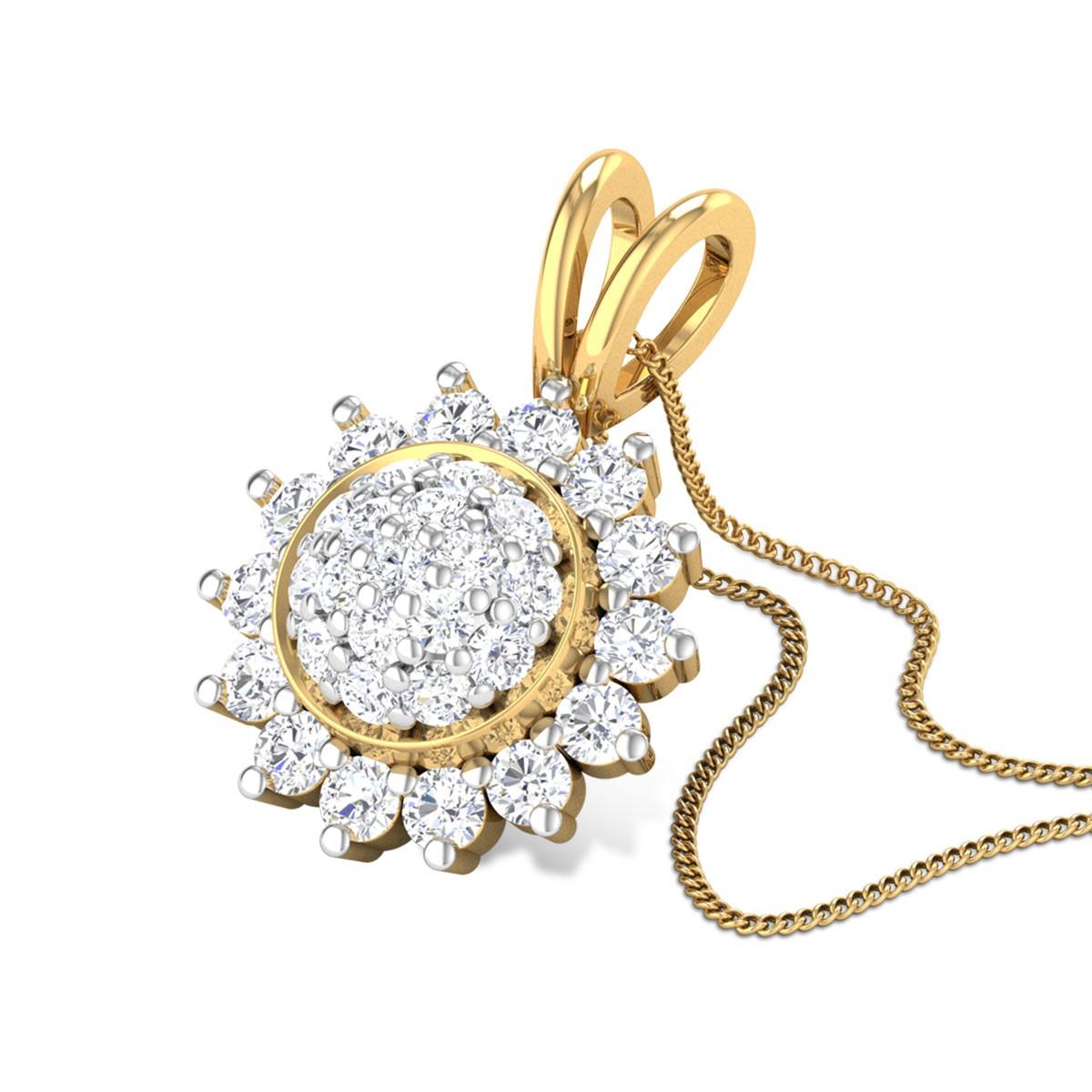 December Flower Diamond Pendant