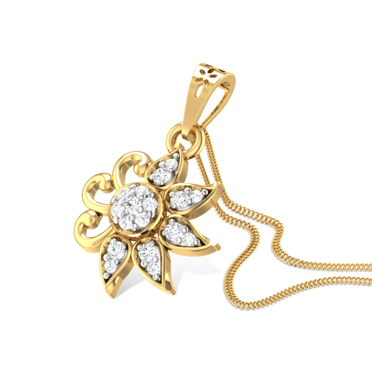 Sara Flora Diamond Pendant