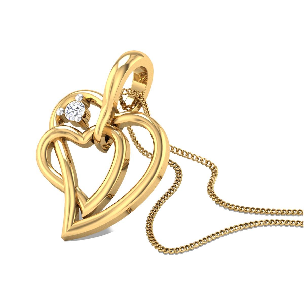 Compassionate Heart Diamond Pendant