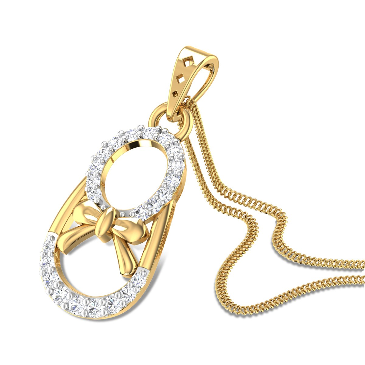 Baby Shoes Diamond Pendant