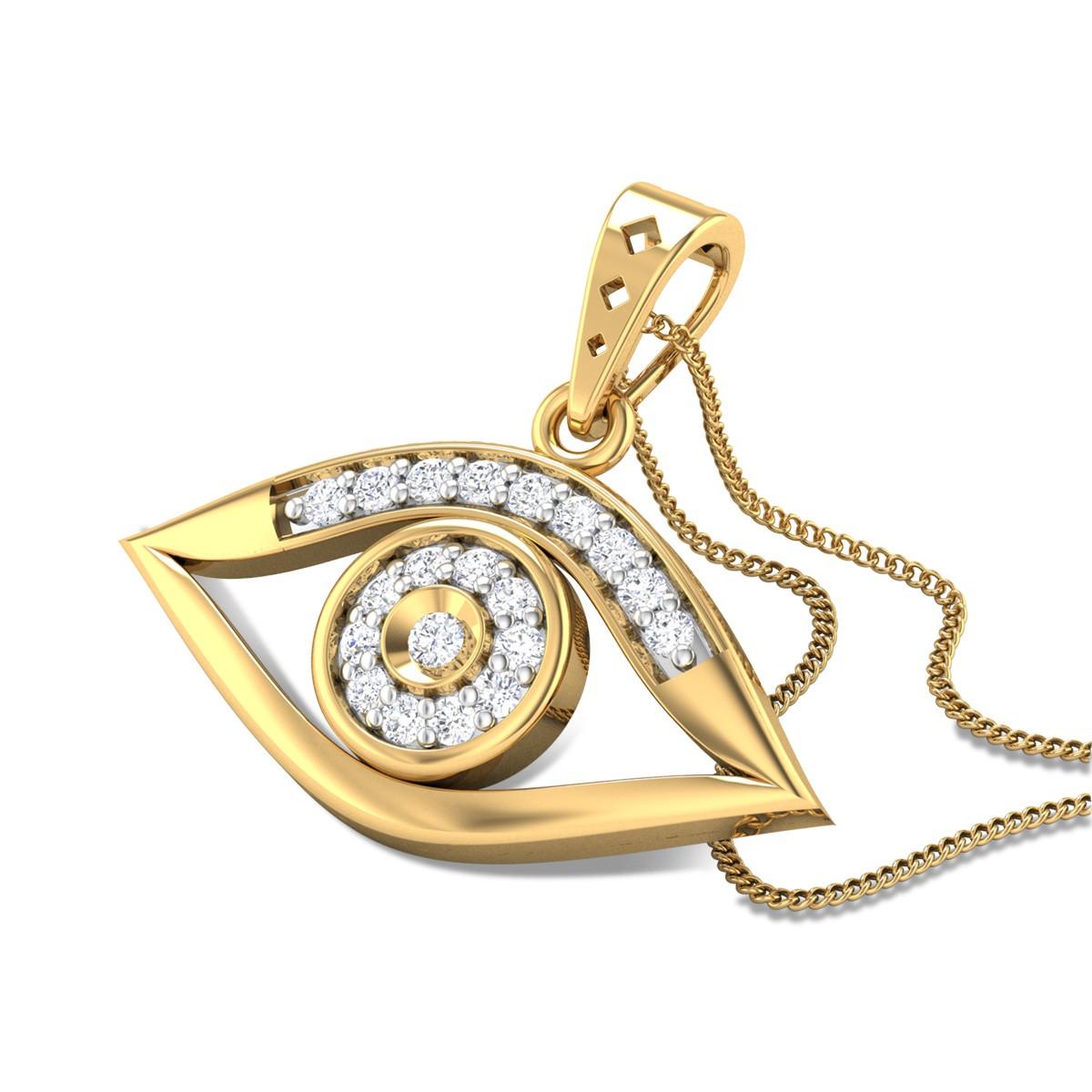Aankh Diamond Pendant