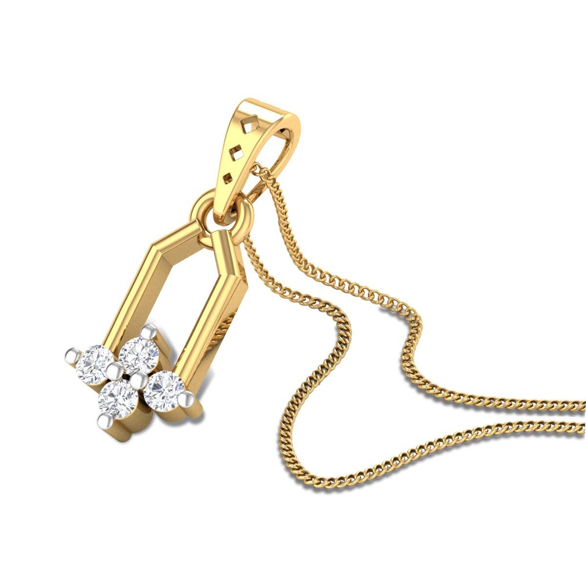 Sunkist Diamond Pendant