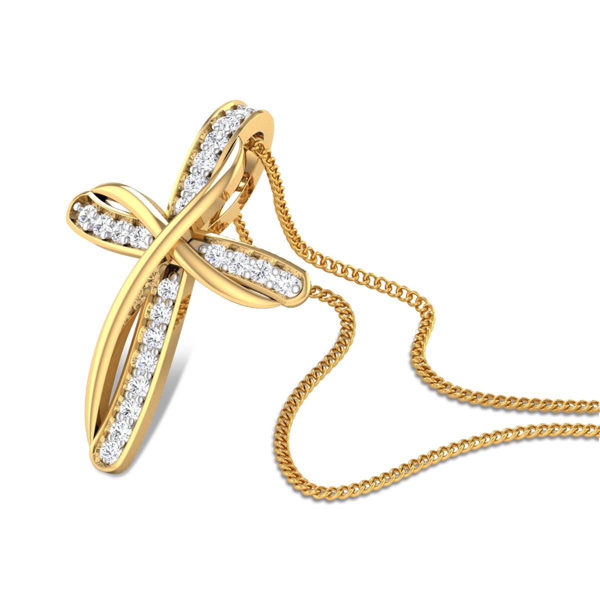 Holy Cross Diamond Pendant