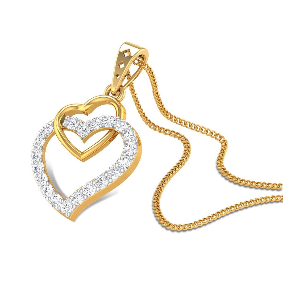 Adoration Heart Diamond Pendant