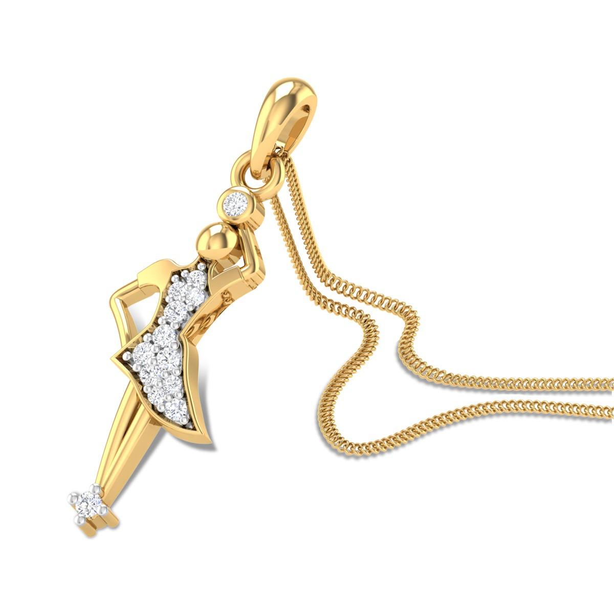 Ballarina Diamond Pendant
