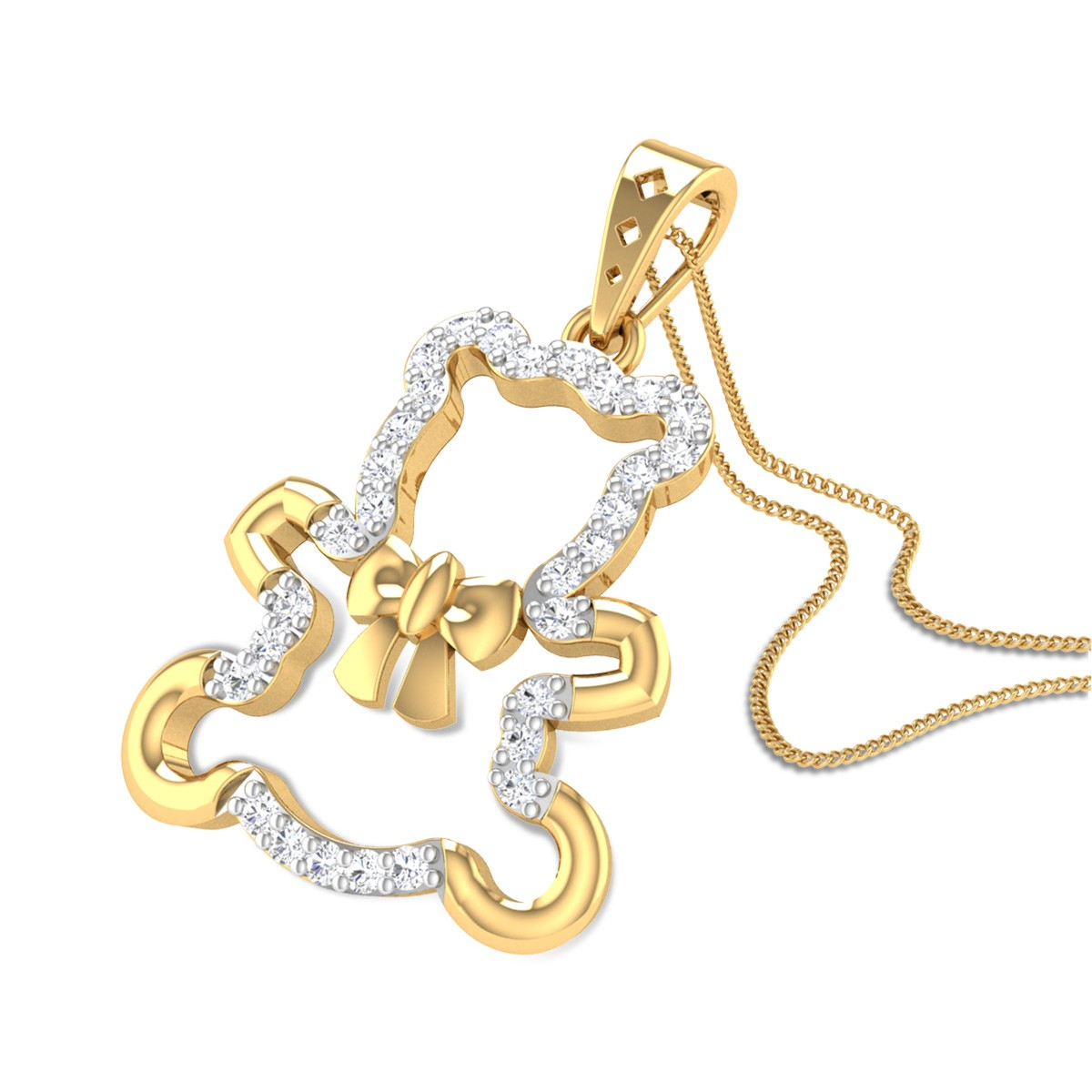 Panda Bear Diamond Pendant