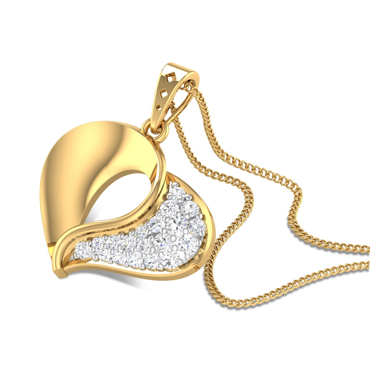 Intimacy Heart Diamond Pendant