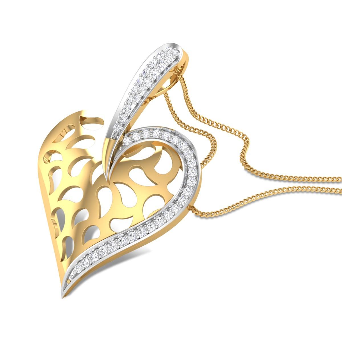 Cupid Heart Diamond Pendant