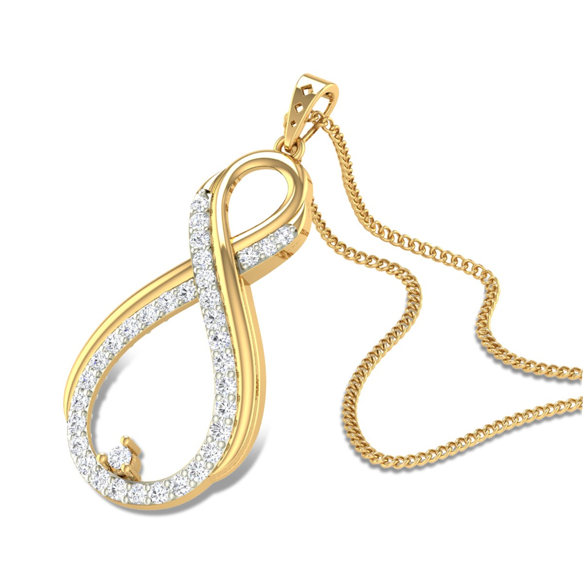 Desire Infinity Diamond Pendant