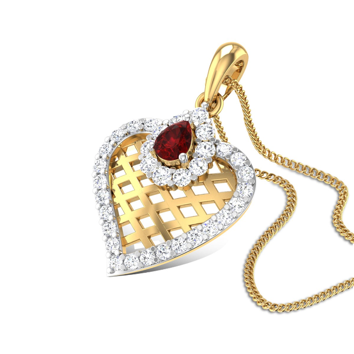 Kirata Trellis Diamond Pendant