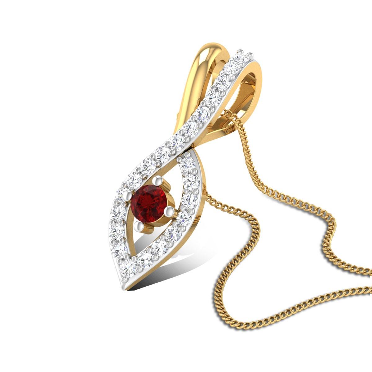 Pritha Diamond Ruby Pendant