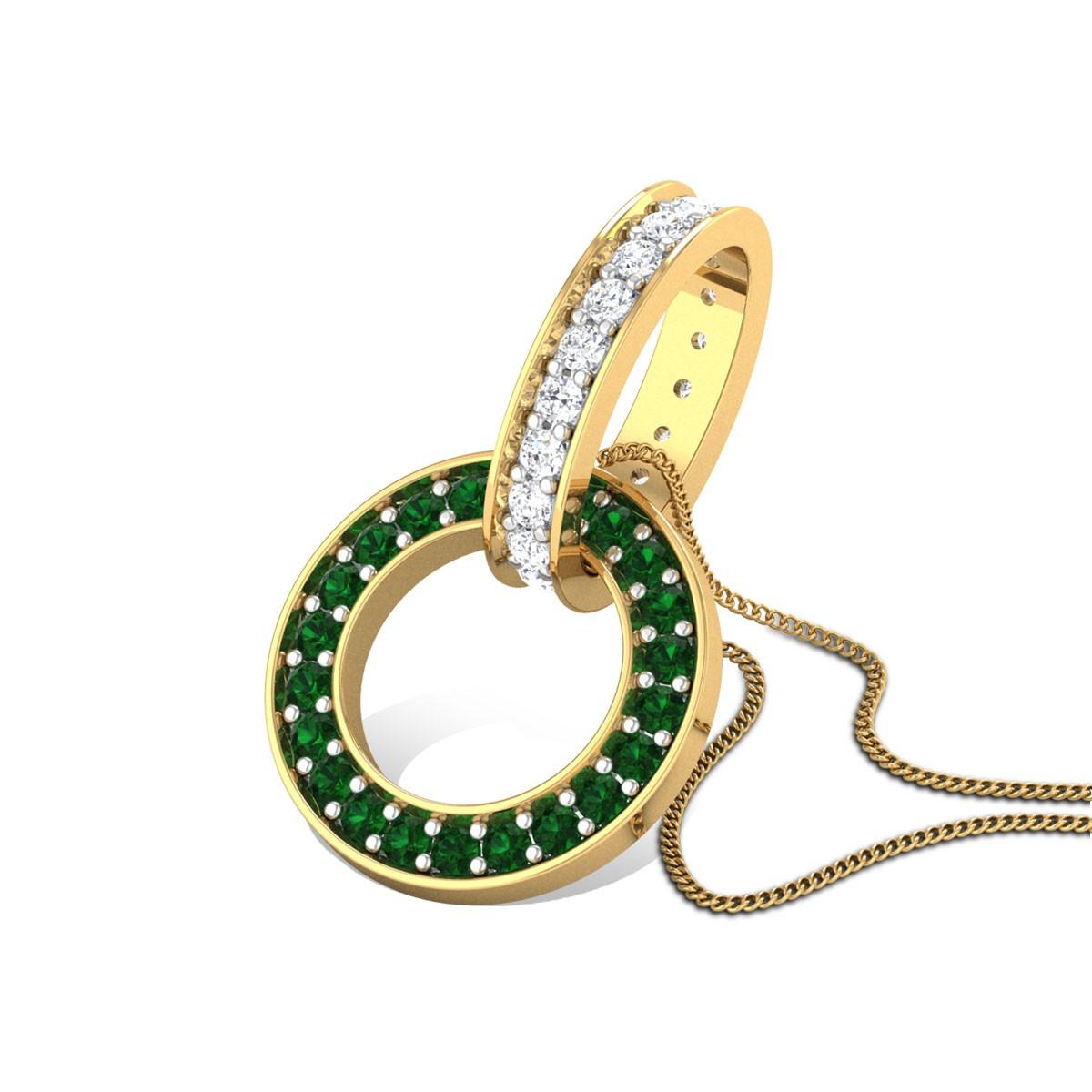 Interlinked Rings Diamond Pendant