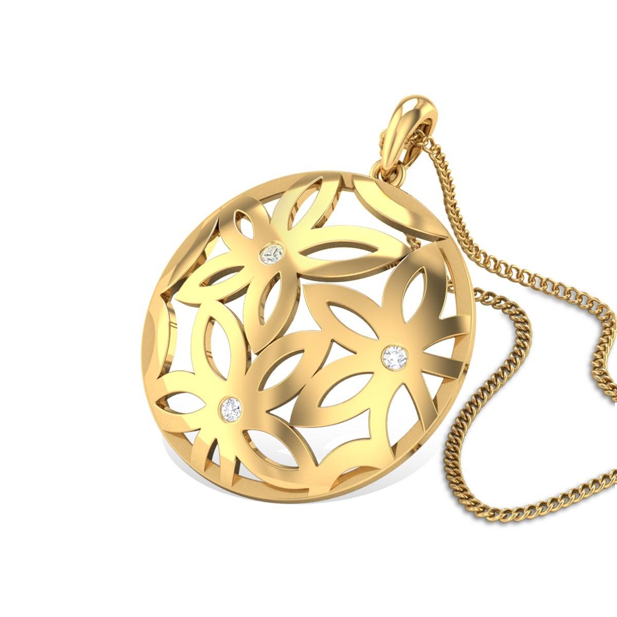 Floating Garden Diamond Pendant