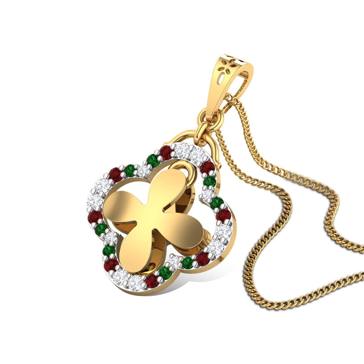 Shesha Floral Diamond Pendant