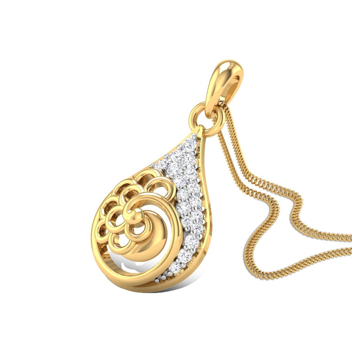 Beauty Springs Diamond Pendant