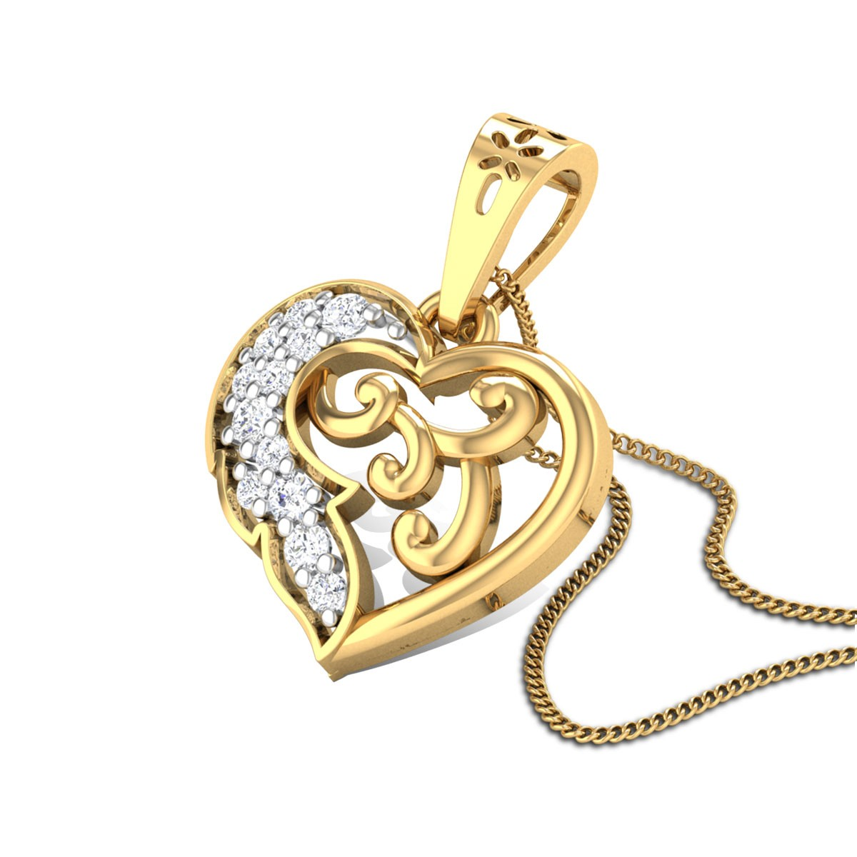 Heart Filled Diamond Pendant