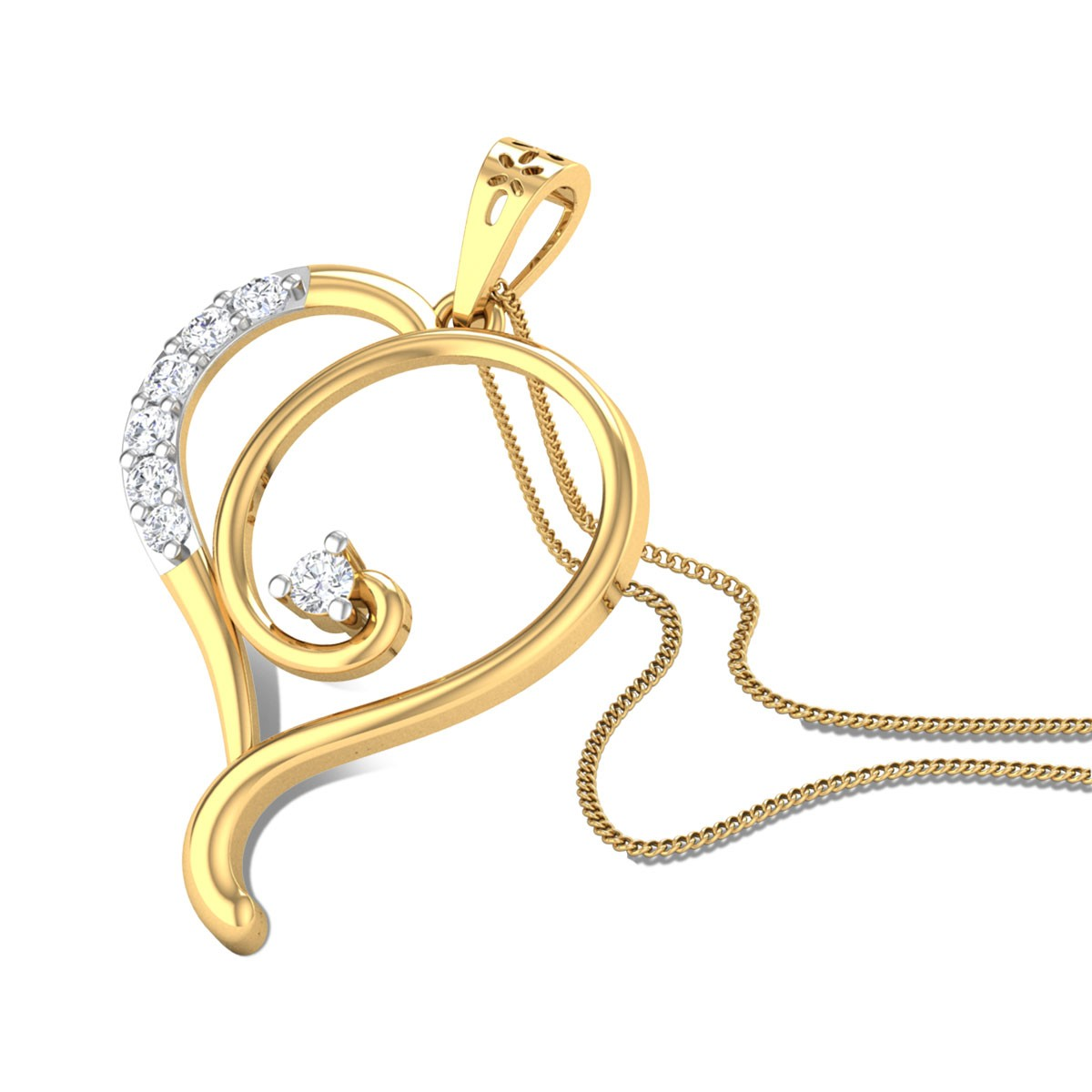 Heart Cadenza Diamond Pendant