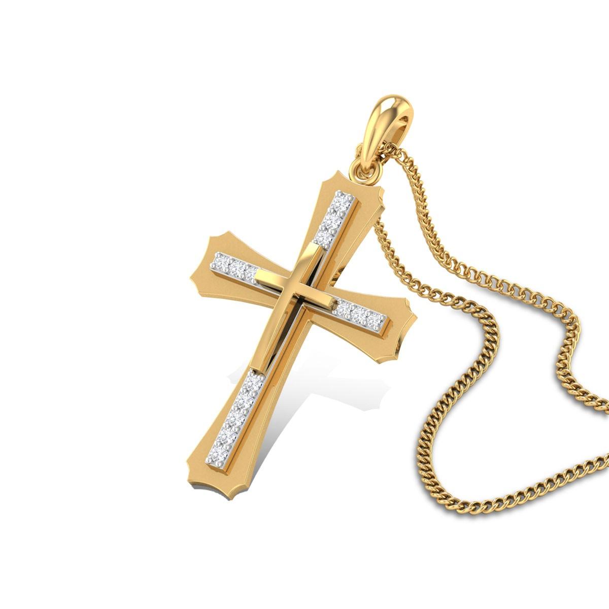 Glory Cross Diamond Pendant