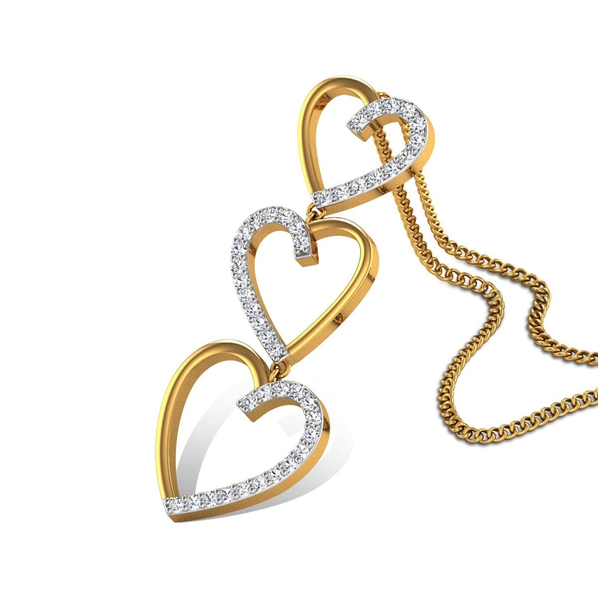 Twinkling Stars Diamond Pendant