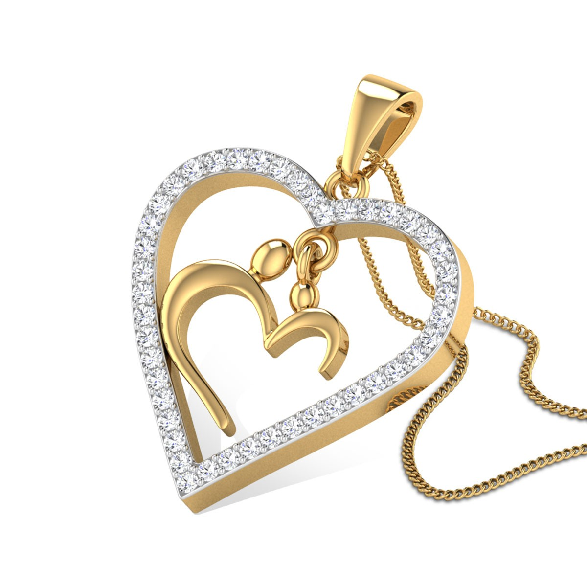Hamsini Classic Diamond Pendant