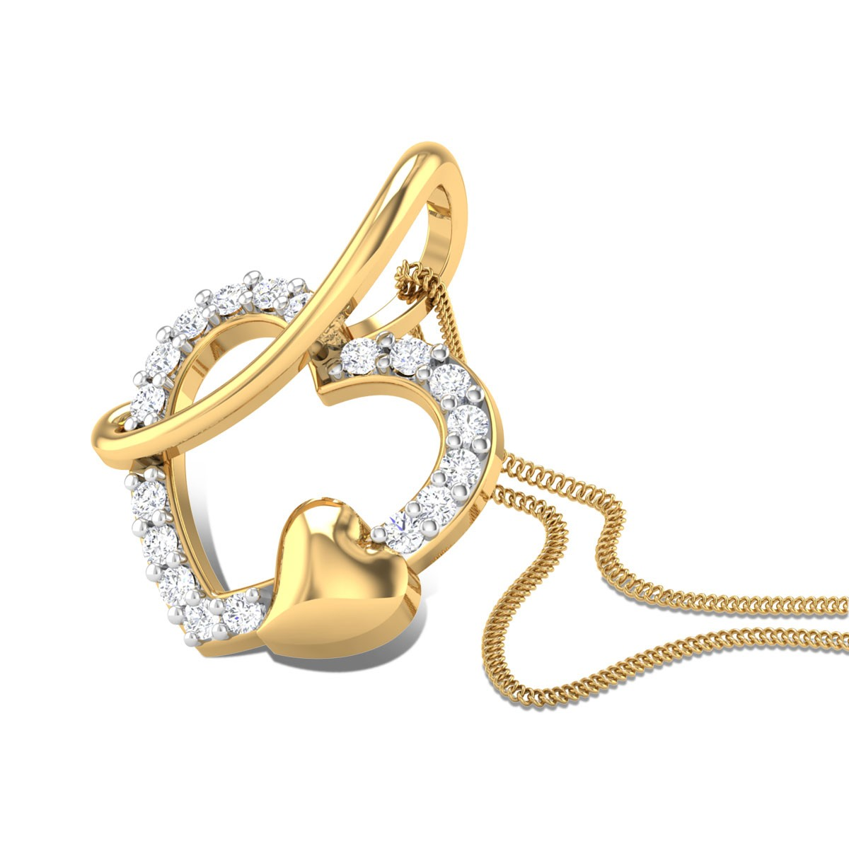 Heart Brio Diamond Pendant