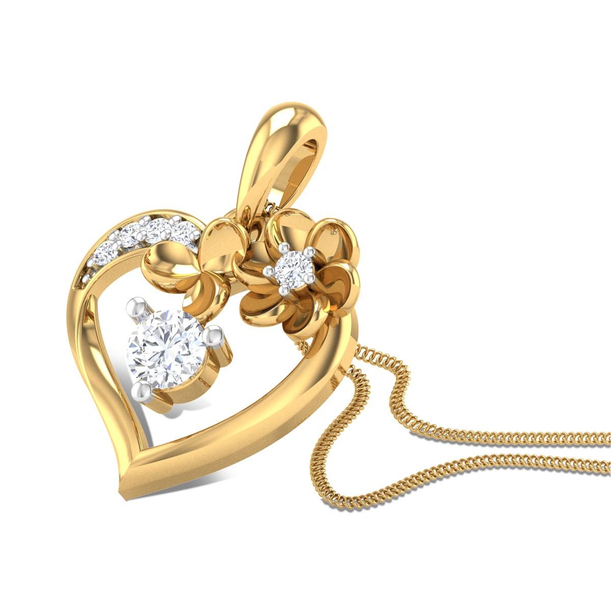 Playful Heart Diamond Pendant