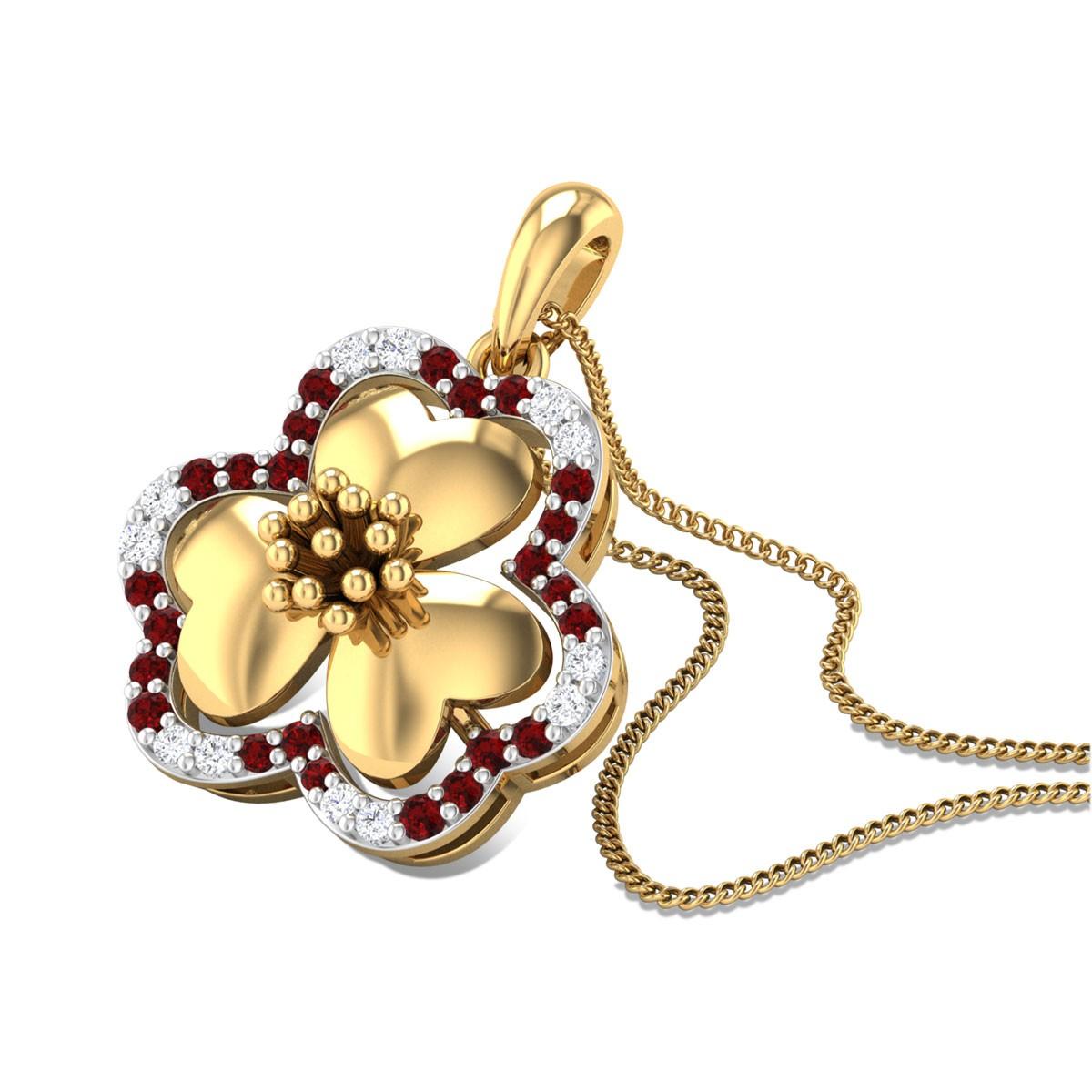 Pavaki Floral Pendant