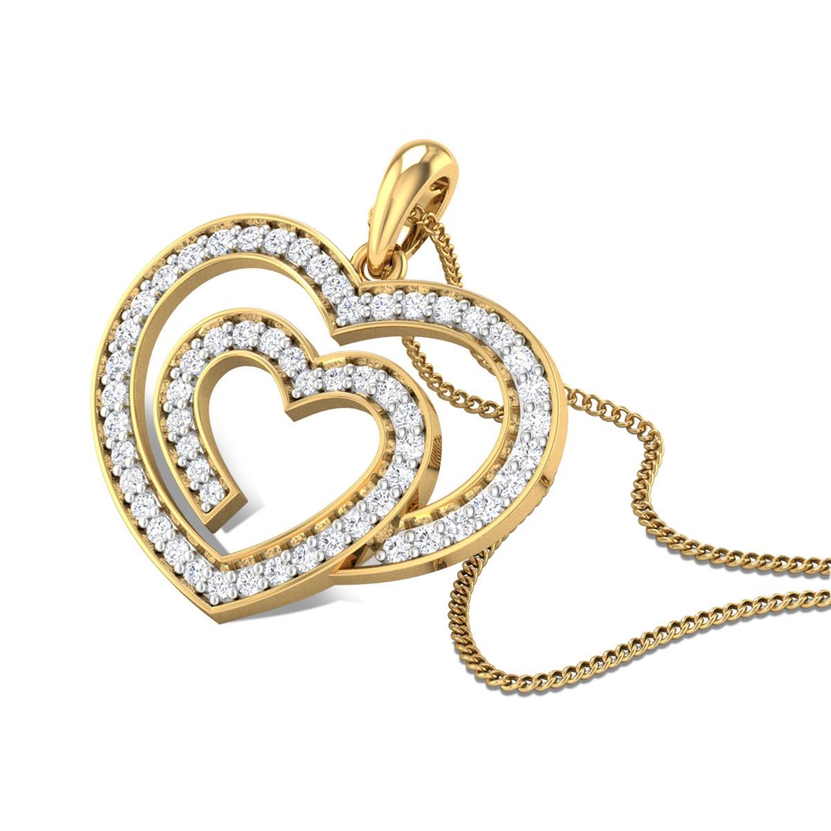 Caring Heart Diamond Pendant