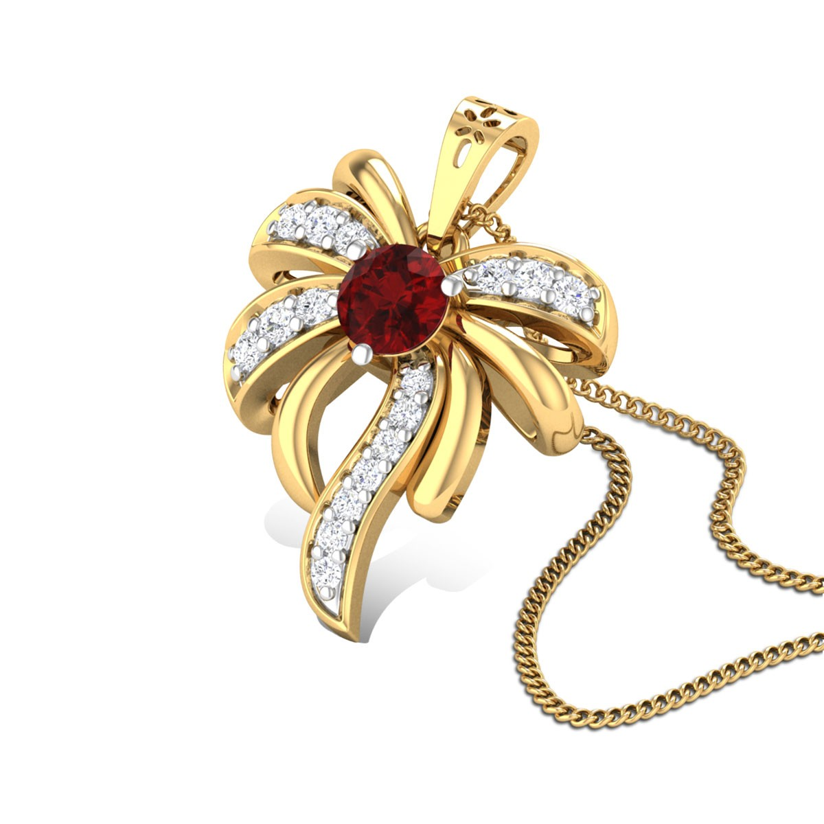 Amit Floral Ruby Pendant