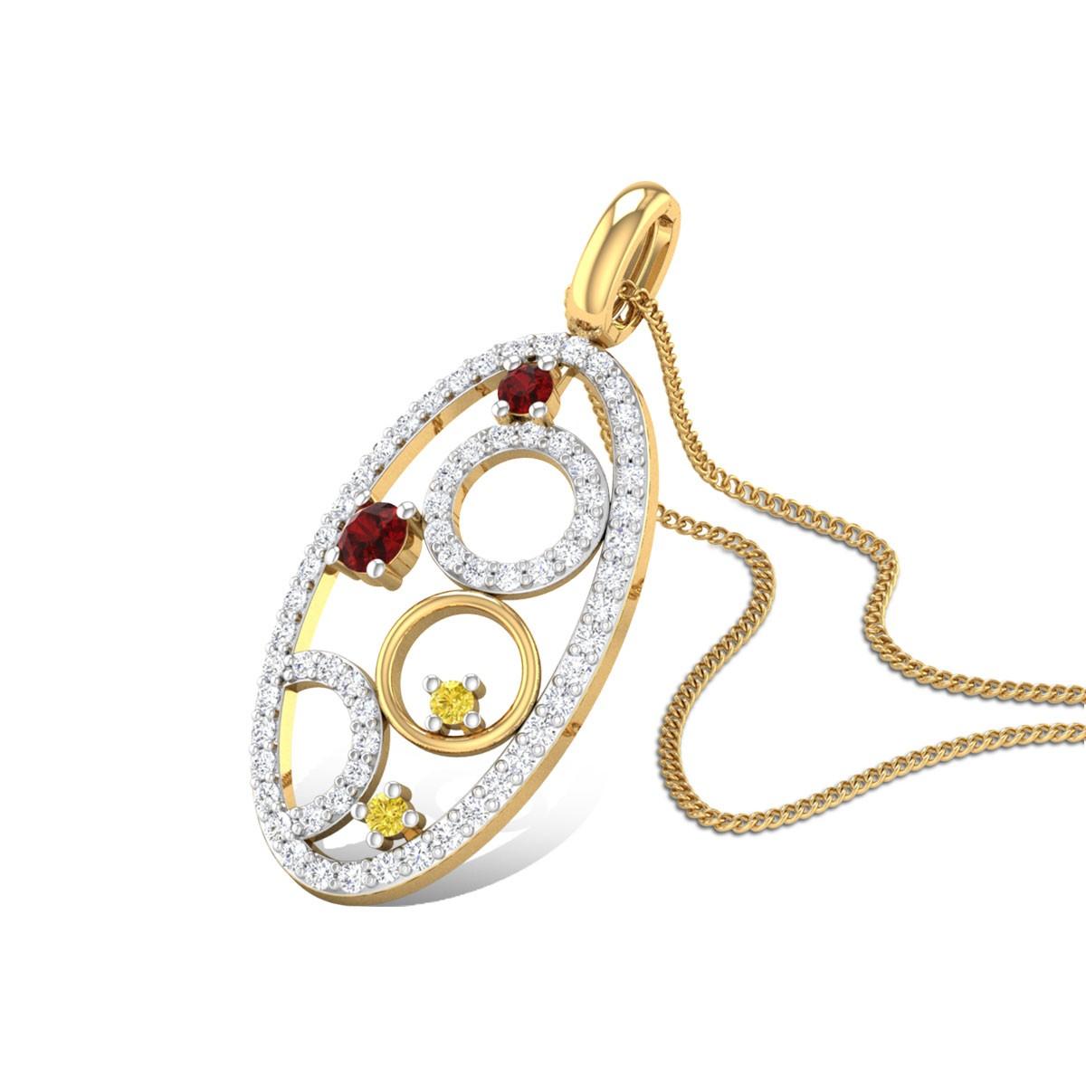 Alastor Diamond and Ruby Pendant