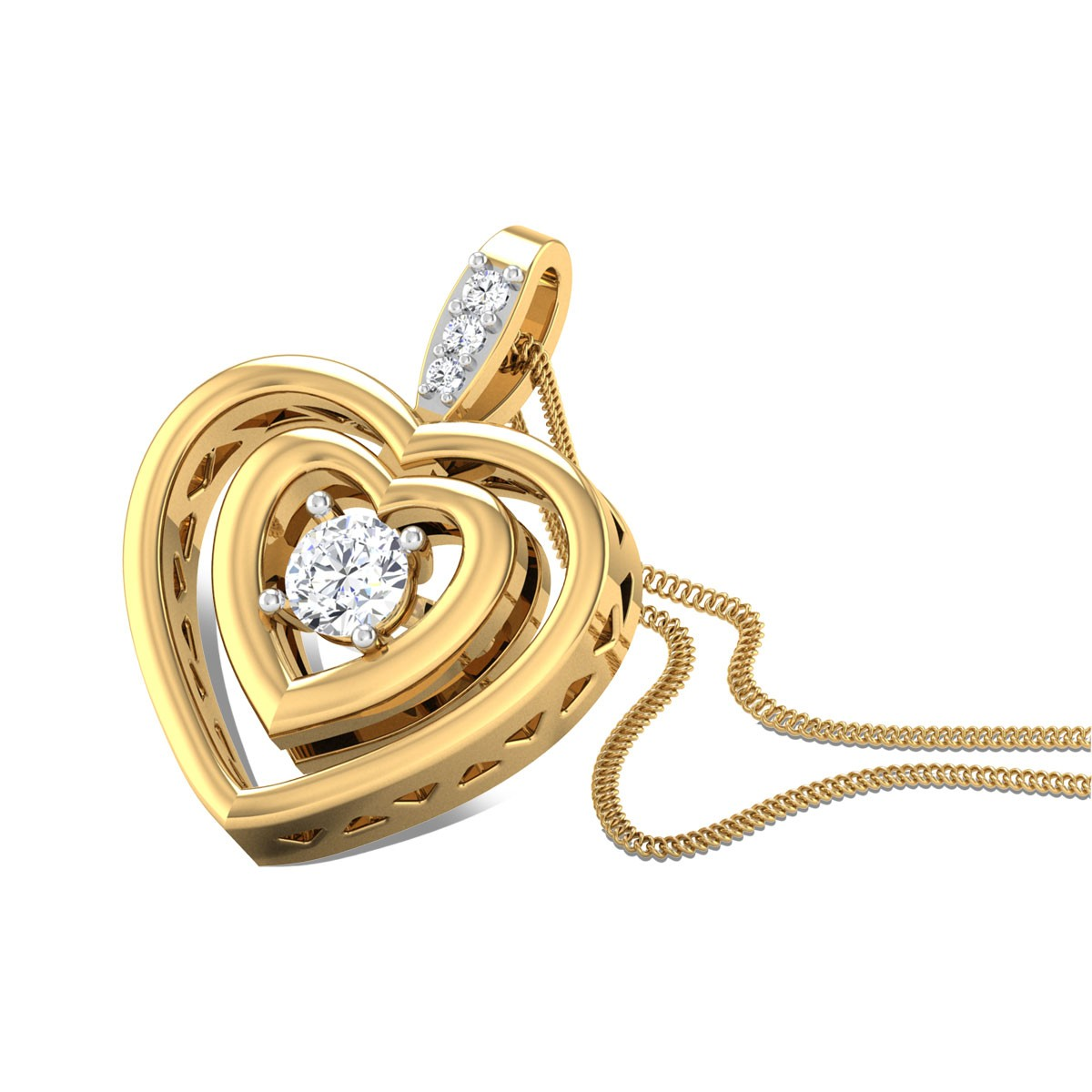 Hip Hop Heart Diamond Pendant