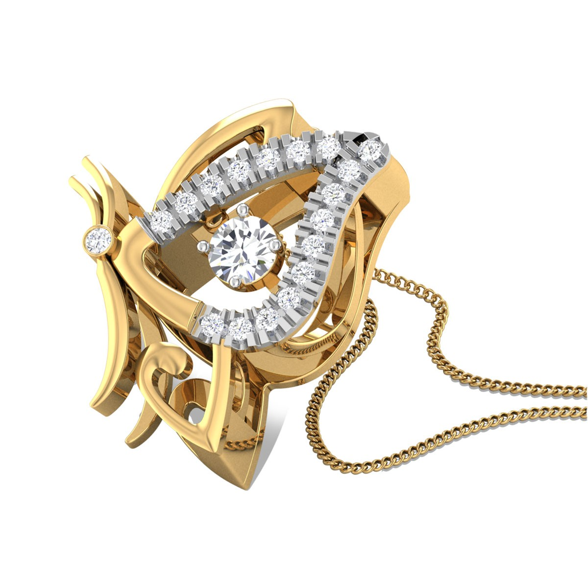 Simply Freestyle Diamond Pendant