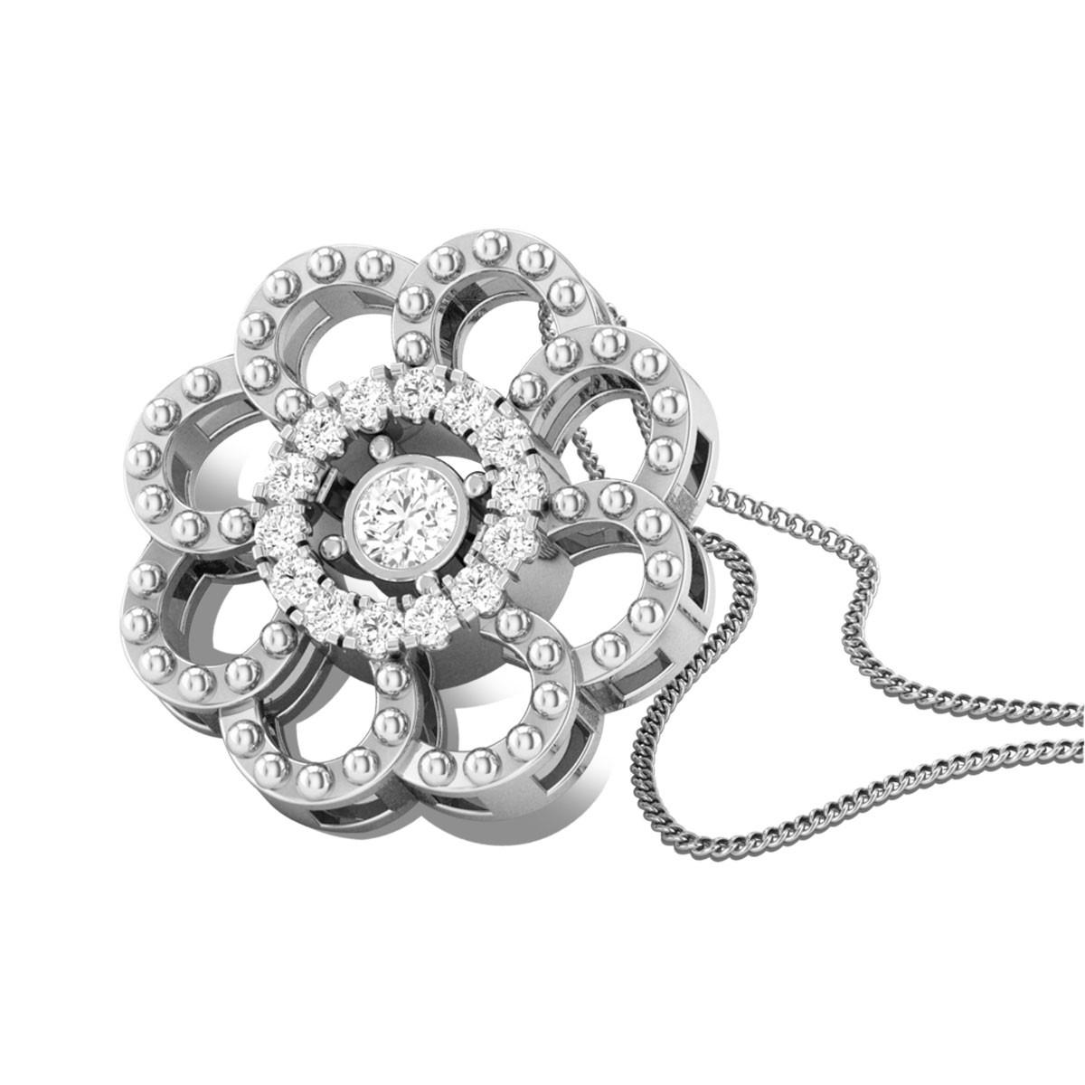 Go- Afro Diamond Pendant