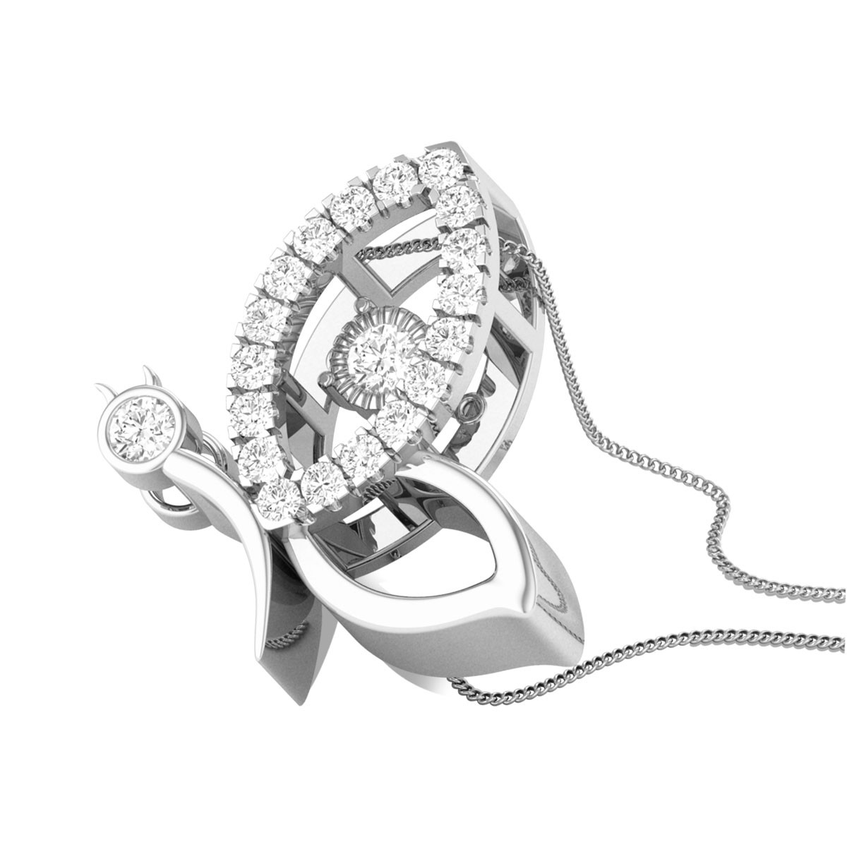 Flinging Merry Diamond Pendant