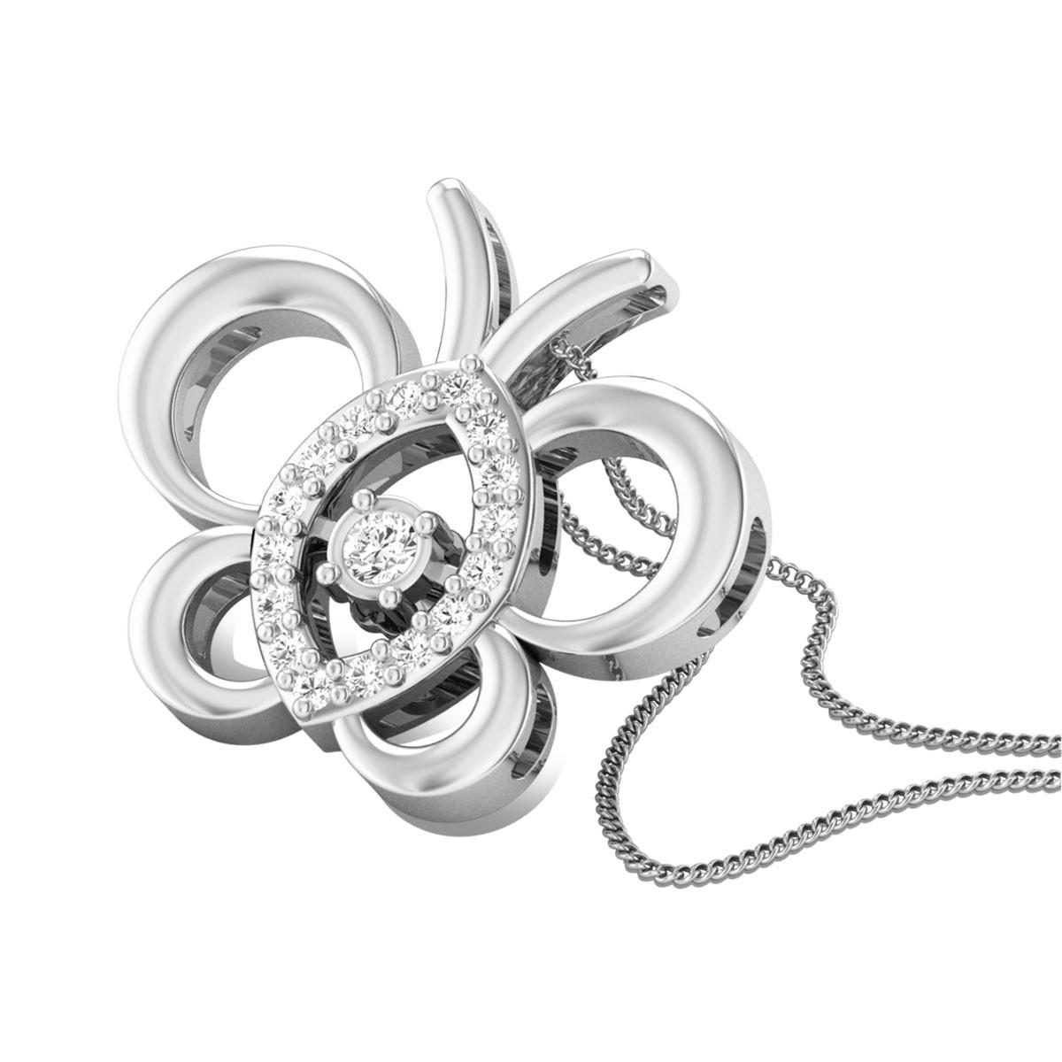 Polka Step Diamond Pendant