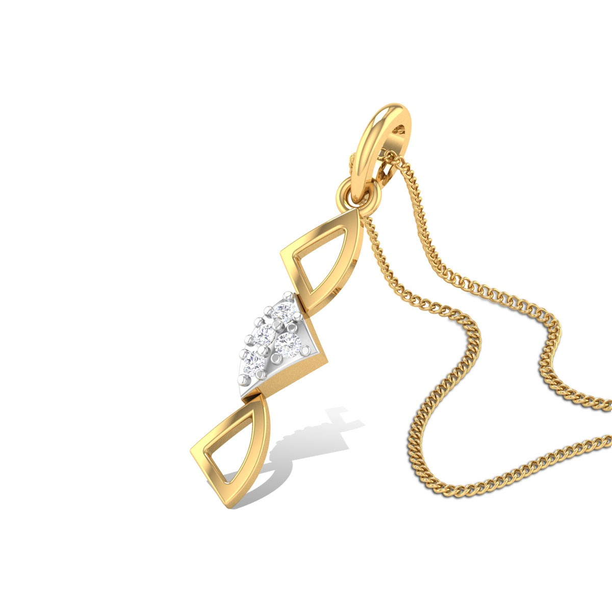 Congruent Triangles Diamond Pendant