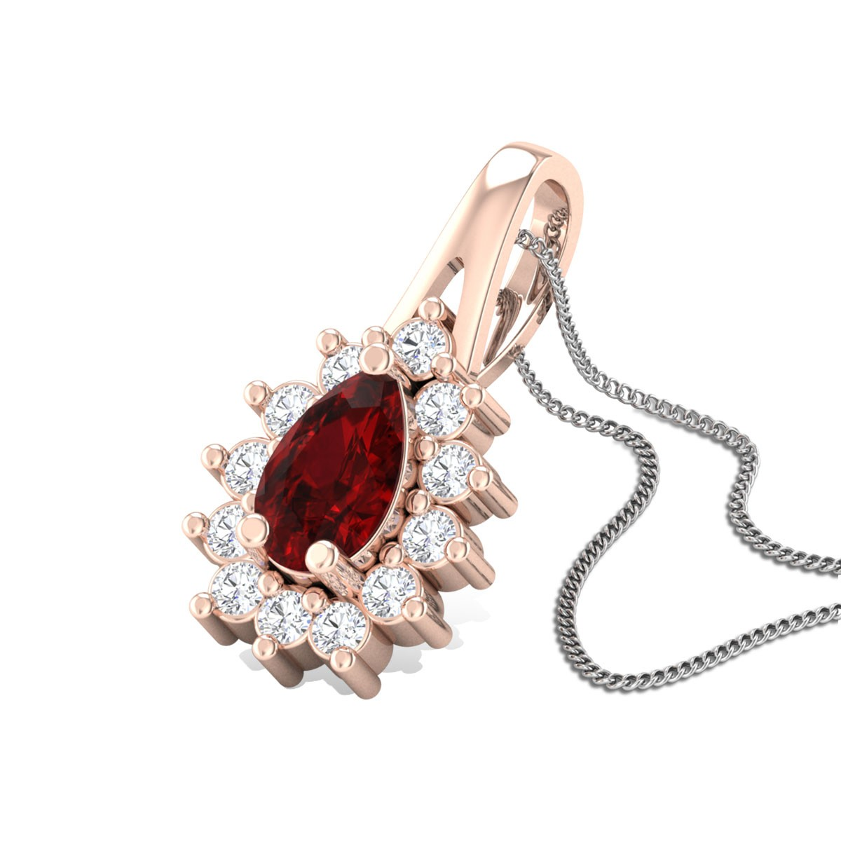 Biwitching Rose Diamond Pendant