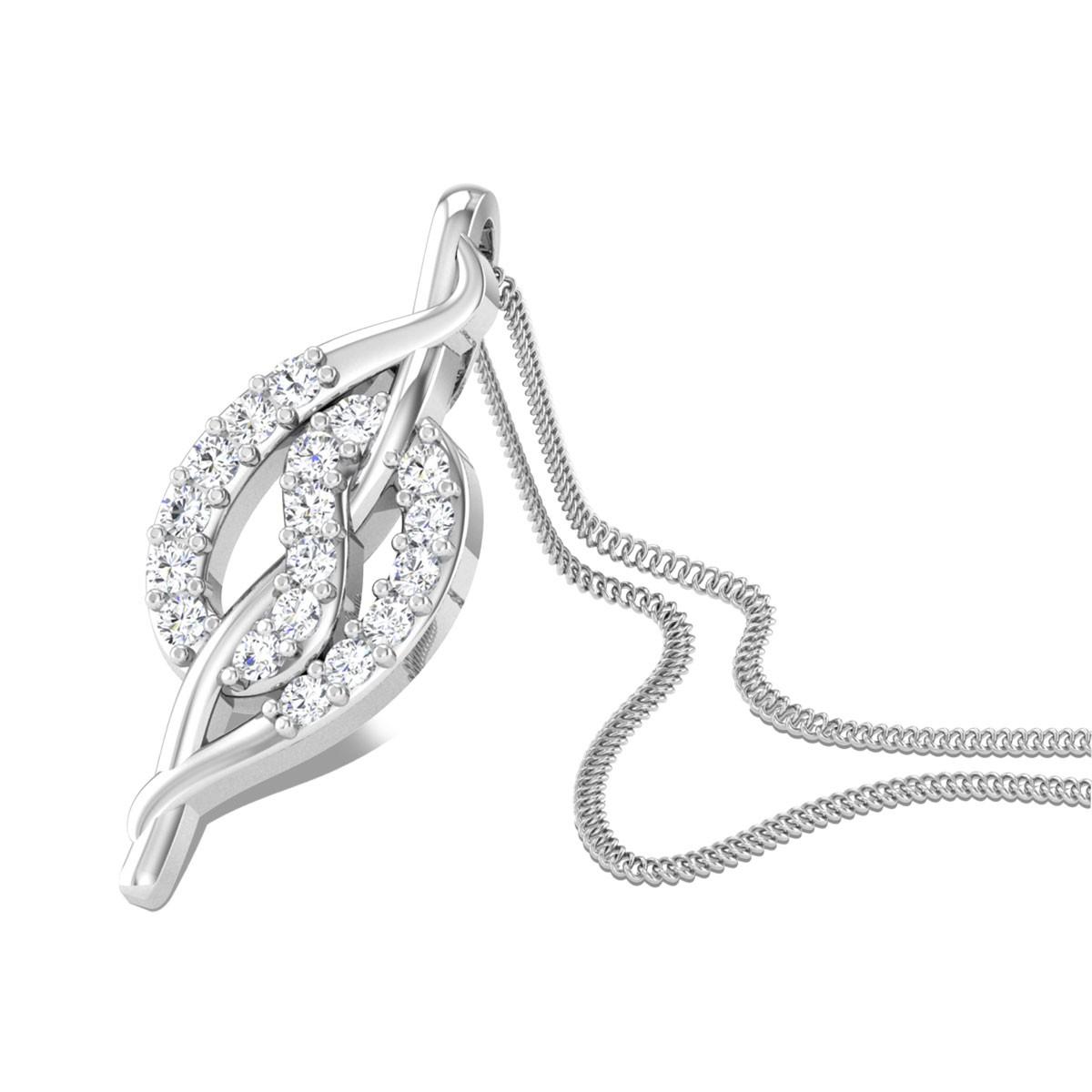 Coy Cuddle Diamond Pendant