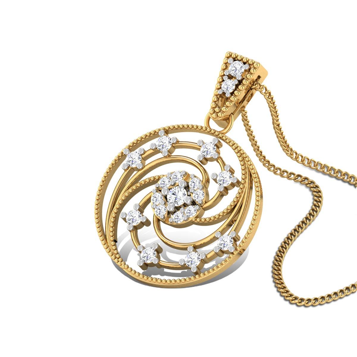 Morning Raaga Diamond Pendant