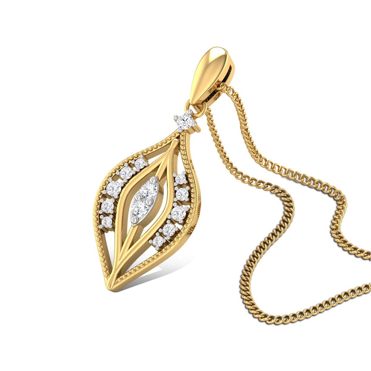 Trans Glaze Diamond Pendant