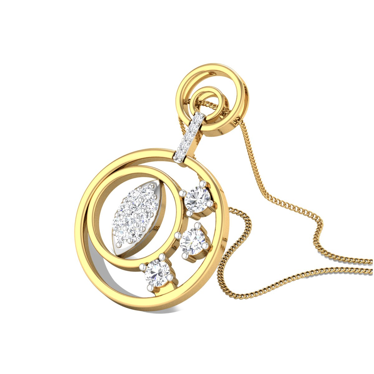Concentrica Diamond Pendant