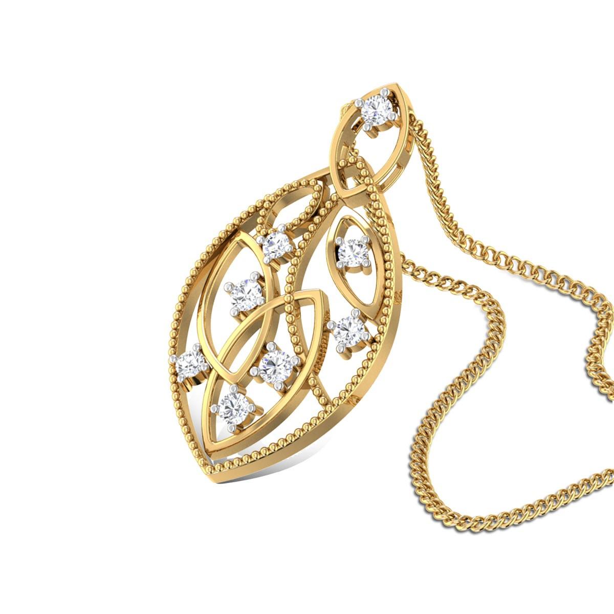 Lustrous Glaze Diamond Pendant