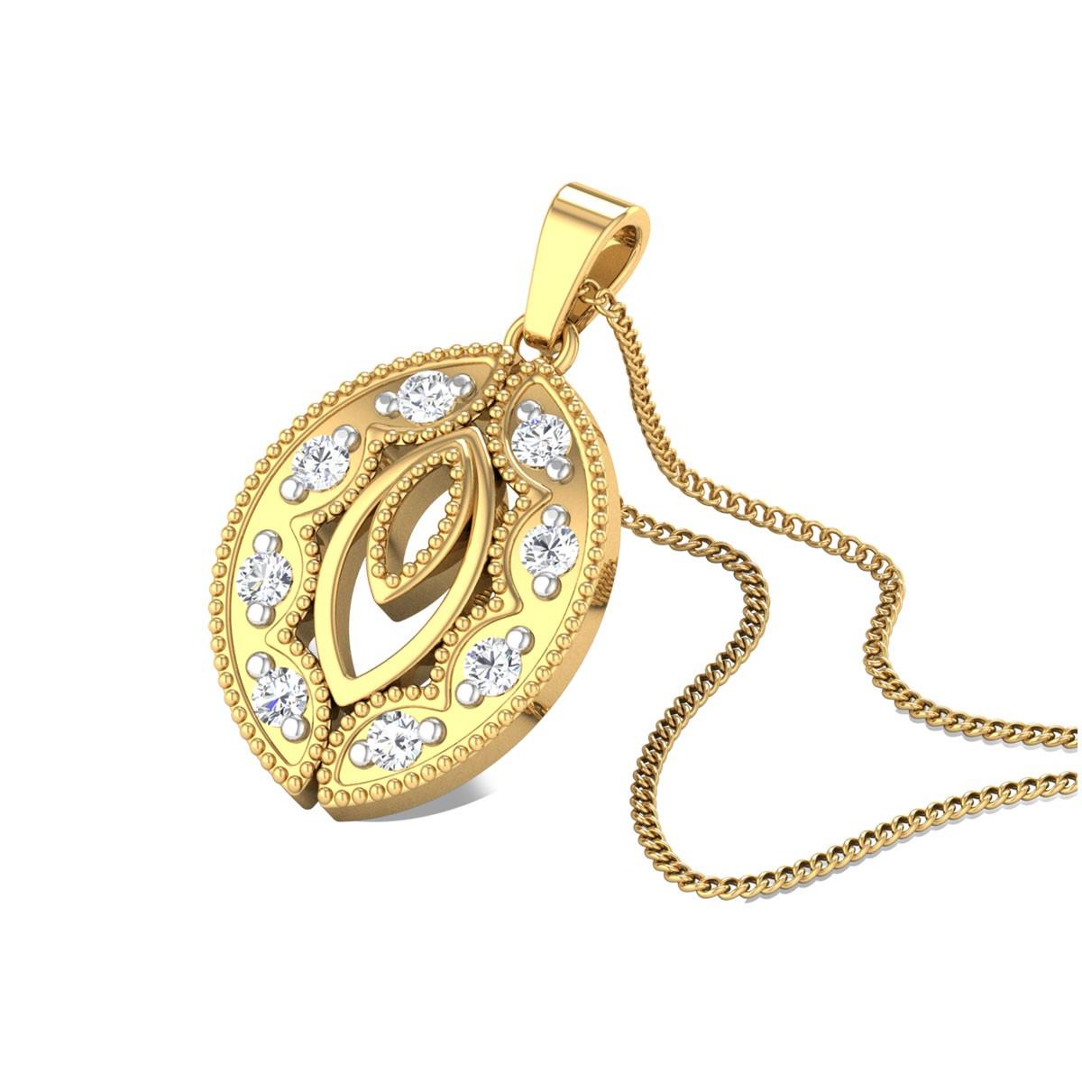 Scintillating Shine Diamond Pendant