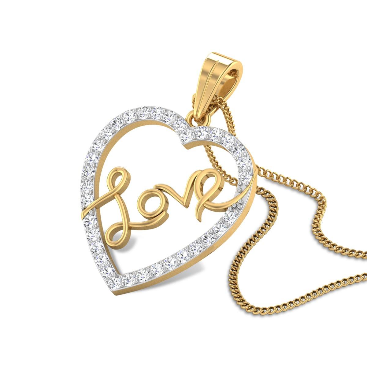 Heart-in-Love Diamond Pendant
