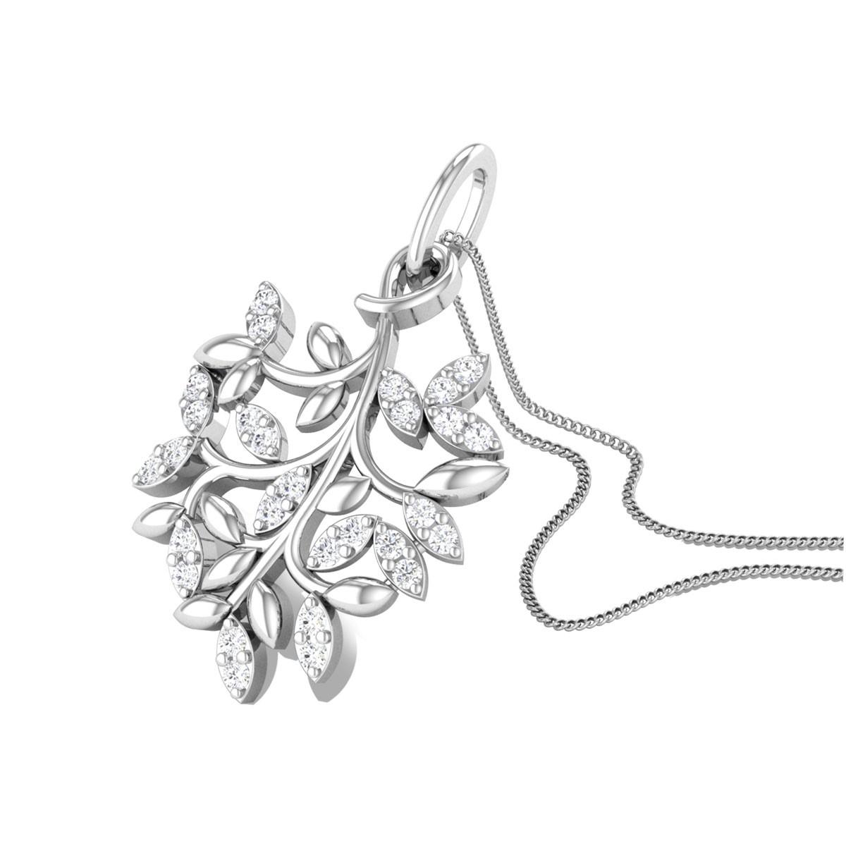 Haven Leafy Branch Diamond Pendant