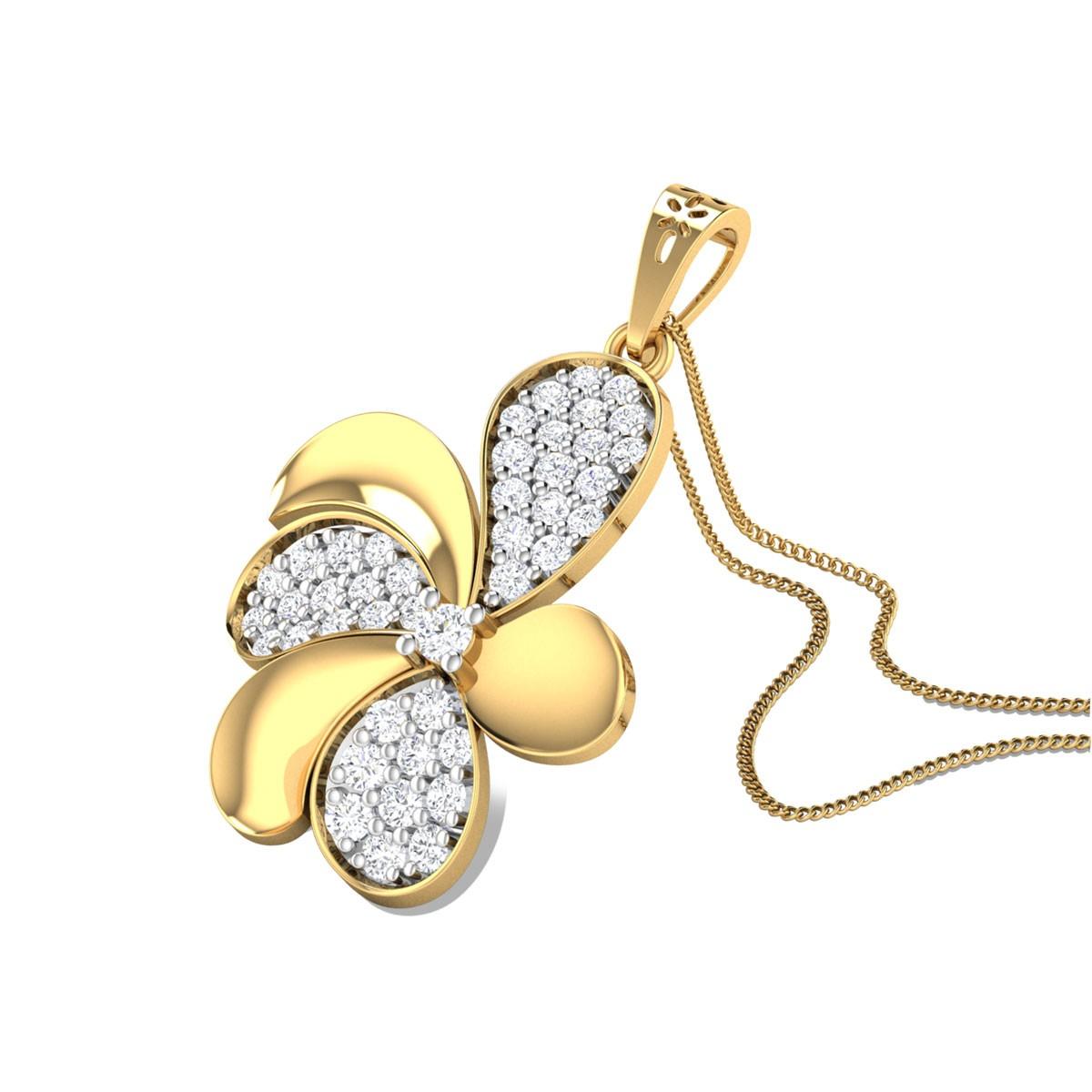 Pansy Diamond Pendant