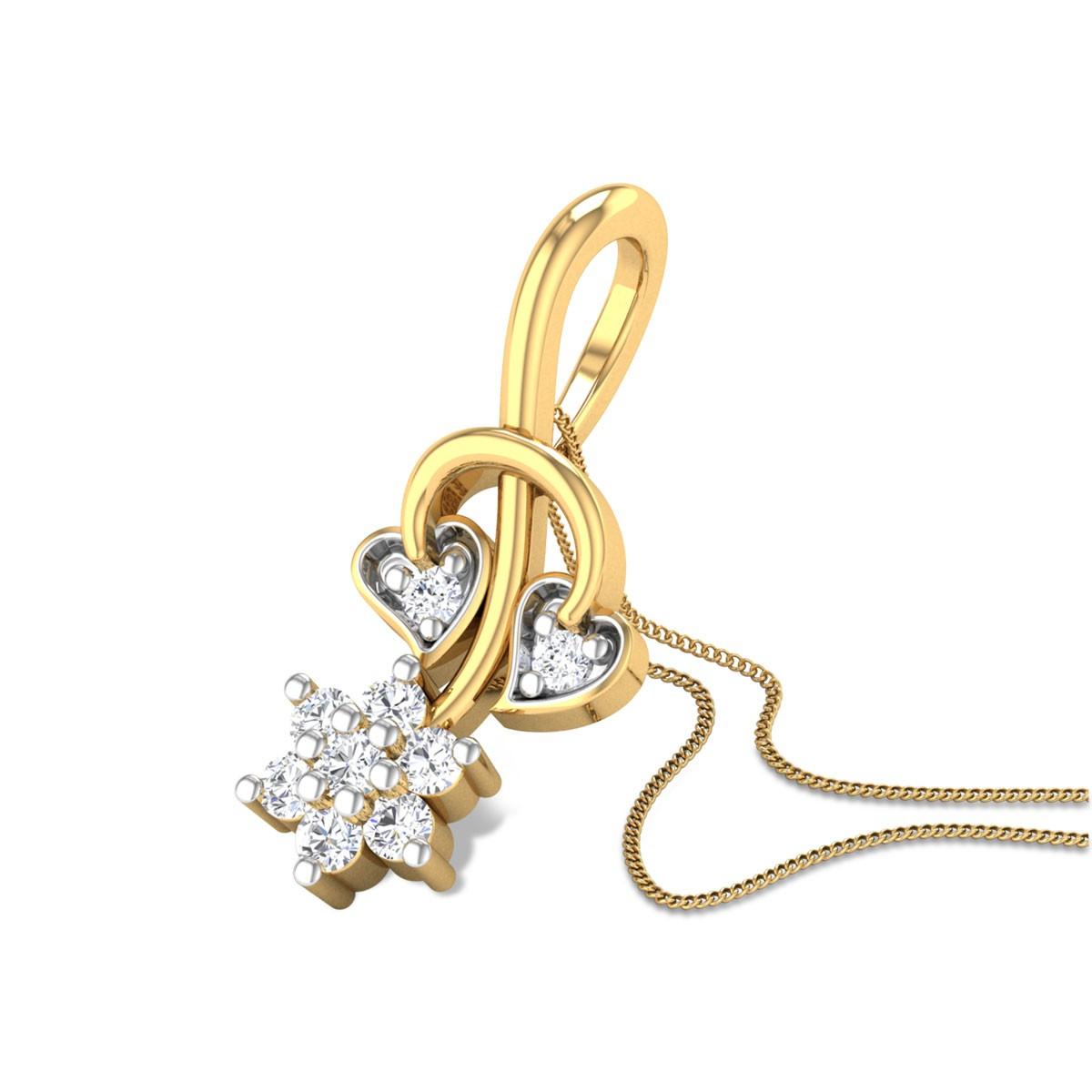 Momus Floral Leafy Diamond Pendant