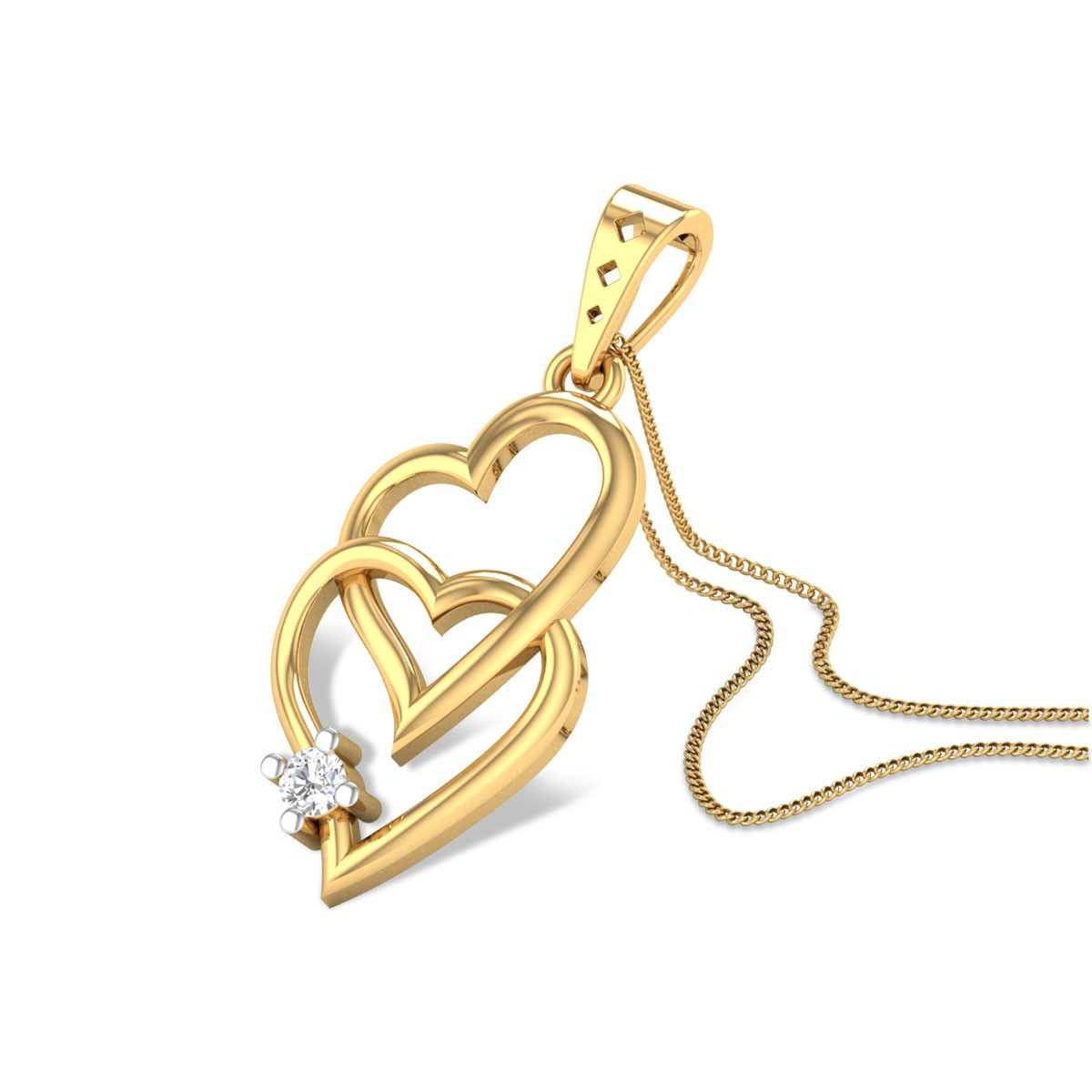 Heart Touched Diamond Pendant