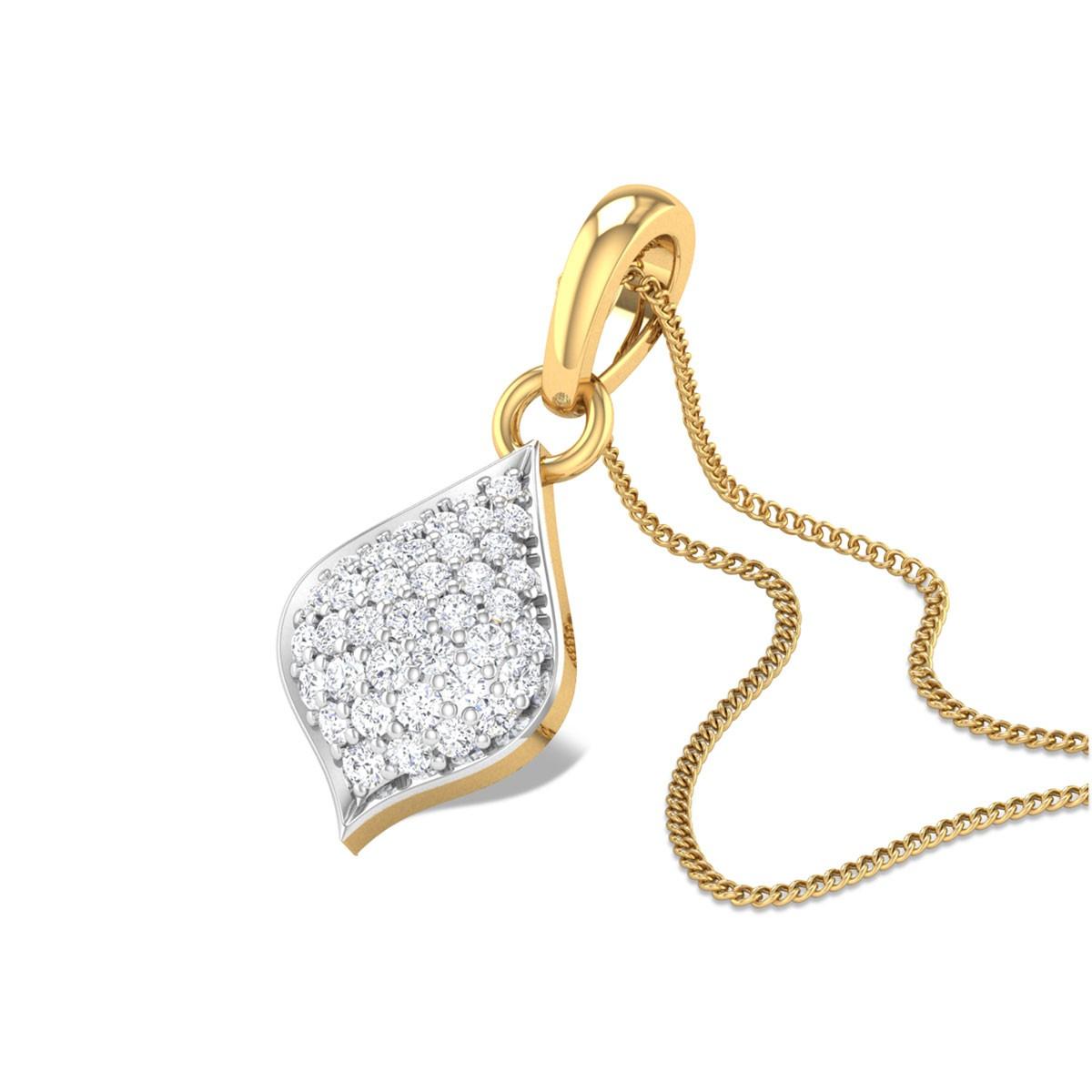 Pollux Diamond Cluster Pendant